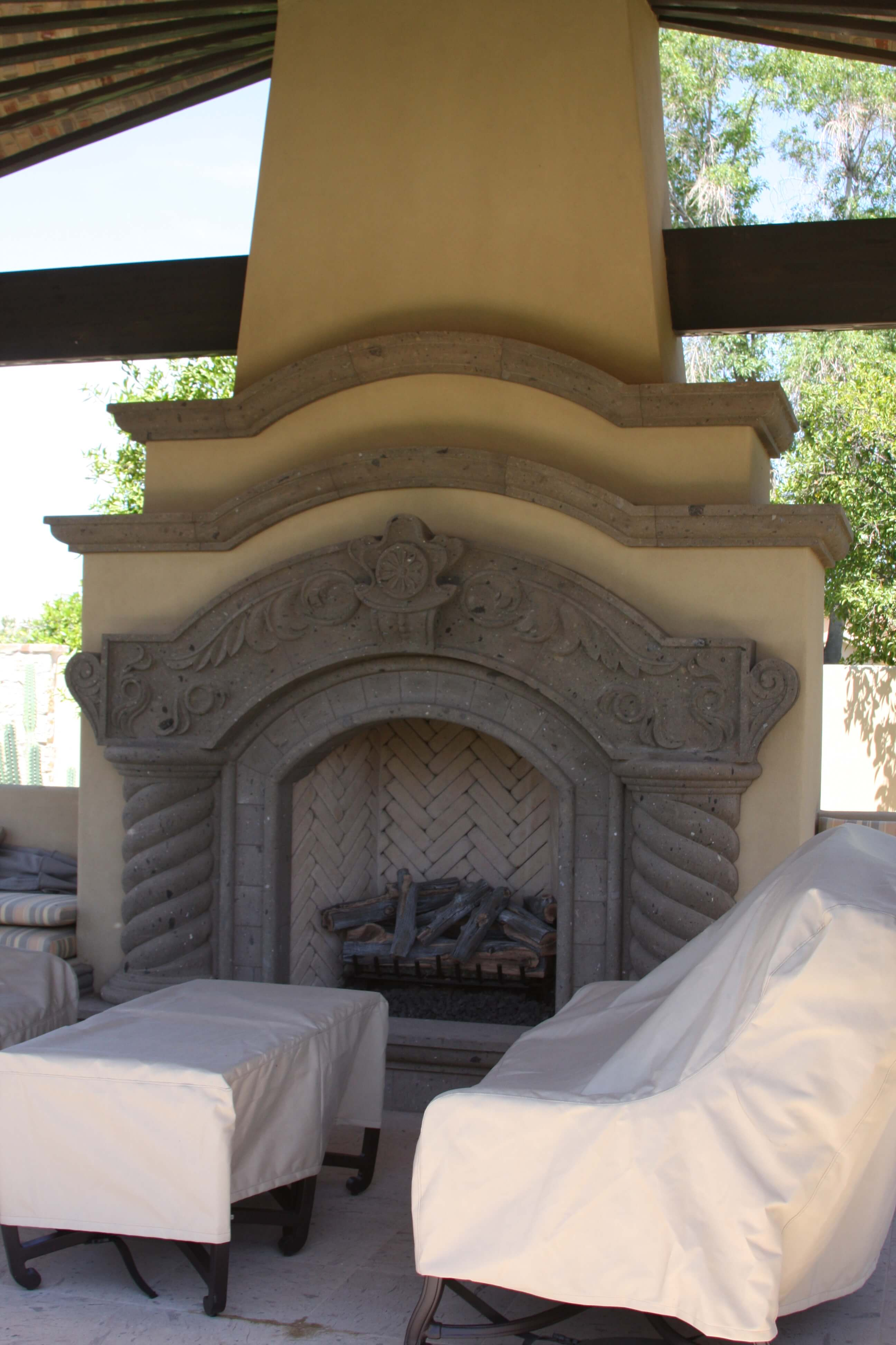 14-Old-World-Fireplace-Surround-at-Ramada-in-Tobacco-Cantera-Stone