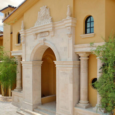 Old World / Classic European Limestone Entryway Surround