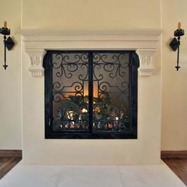 Custom Stone Fireplace Mantel