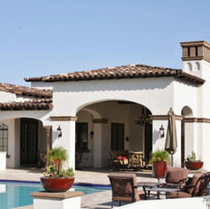 Mediterranean Style Covered Patio