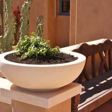 Limestone Wok Landscape Pot