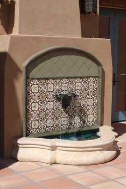 4-Deco-Tile-Wall-Fountain-with-Limestone-Basin