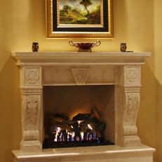 Travertine Fireplace Surround