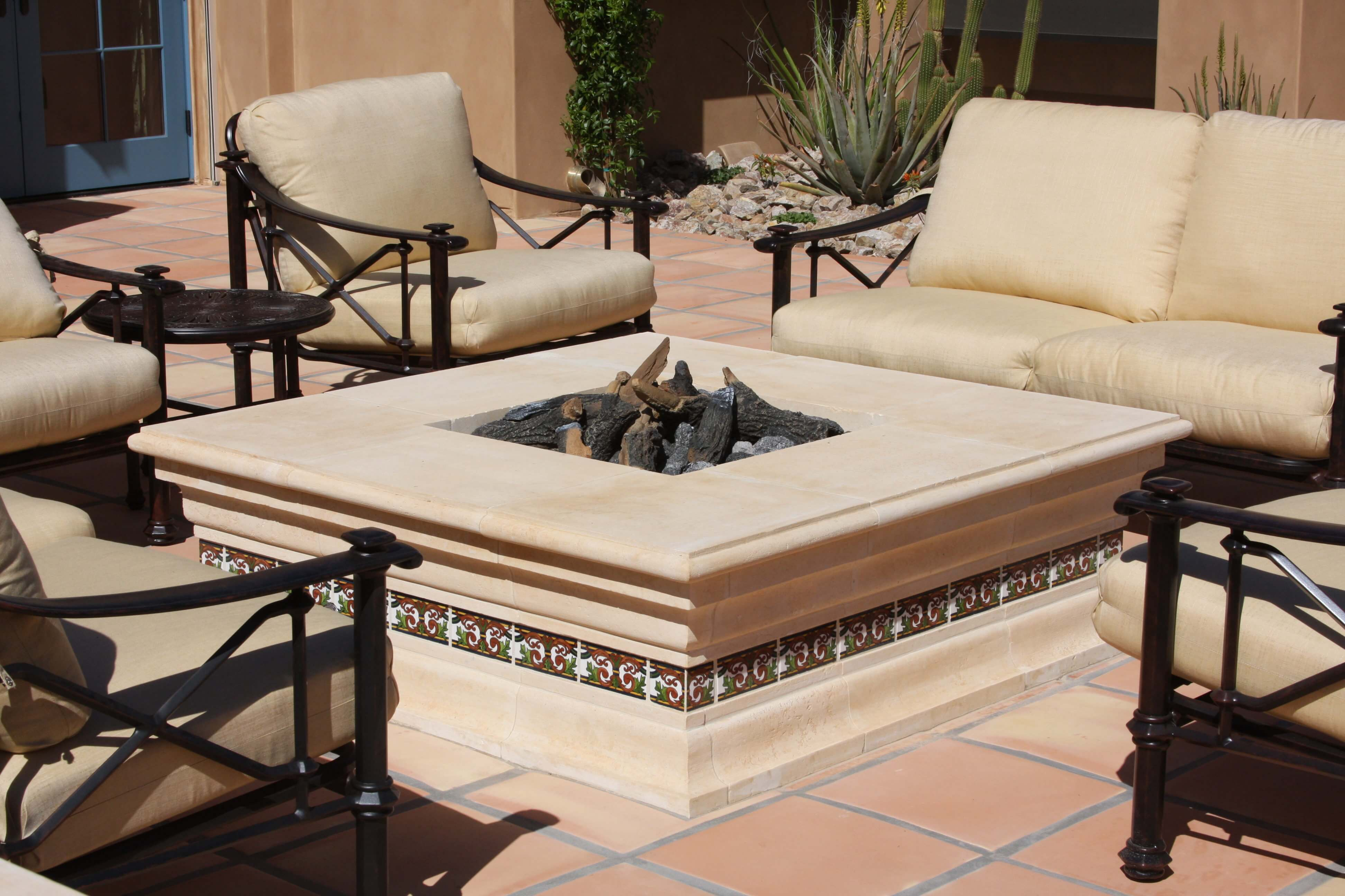 3-Decorative-Limestone-Fire-Pit-with-Recessed-Tile-Deco