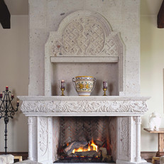 Custom Stone Fireplace Surround