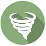 circular tornado icon