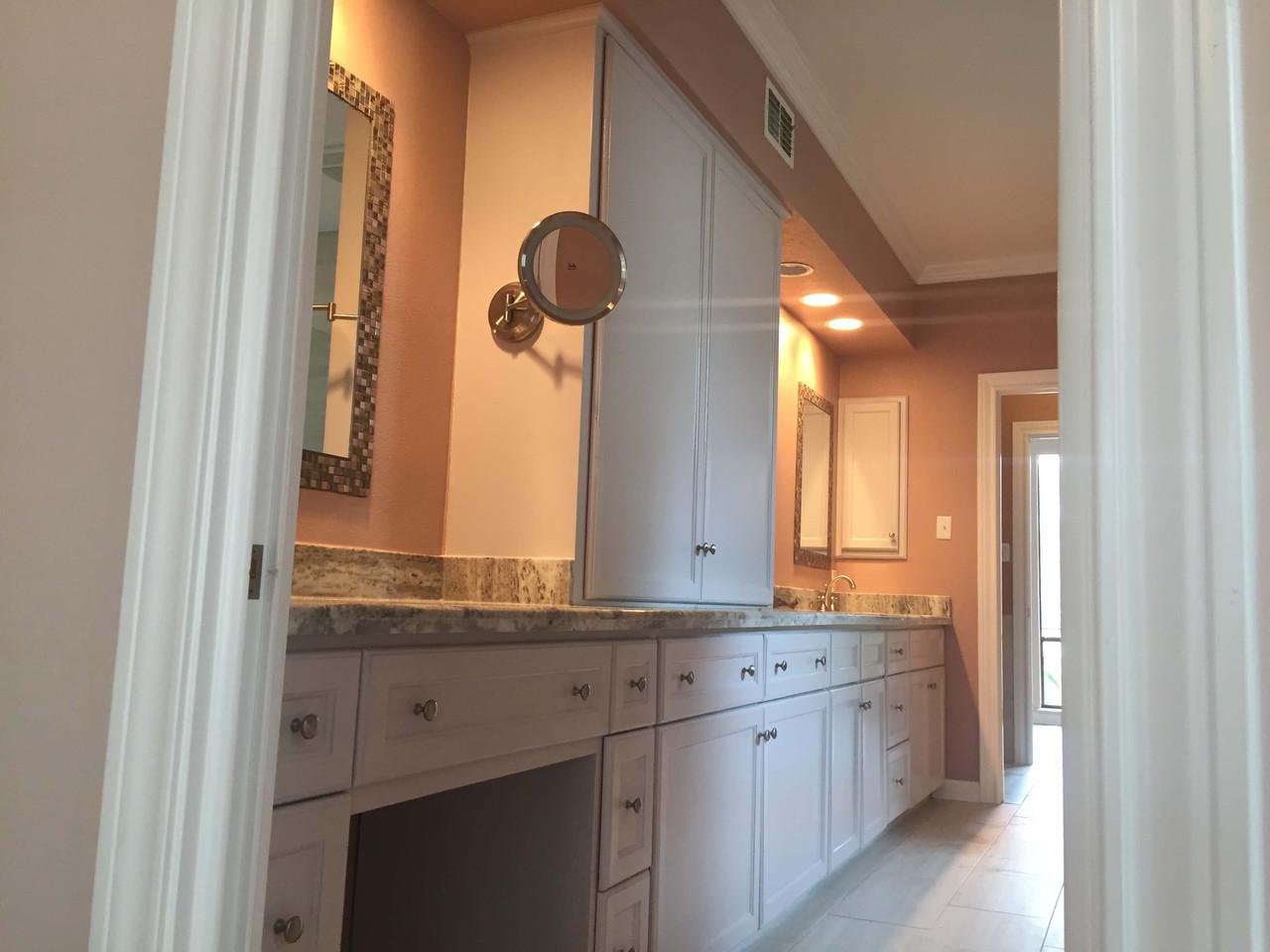 double sink granite countertop luxury bathroom