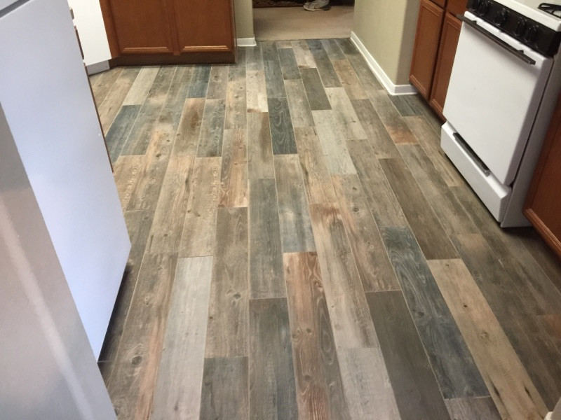 remodeled kitchen with wood floors