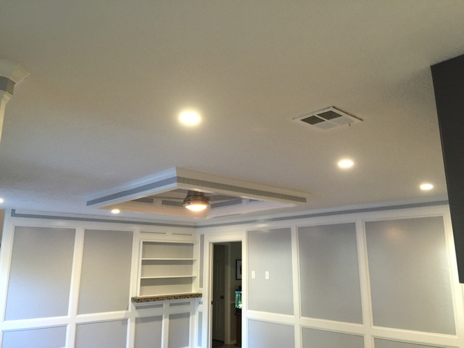 custom ceiling and walls