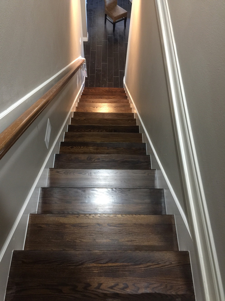 custom wooden stairs