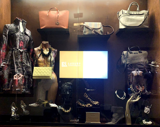 Display at the Ritz-Carlton Rancho Mirage CA for Luxury Consignment
