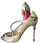Christian Louboutin snakeskin strappy heels