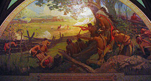 Painting of the Battle of St Louis