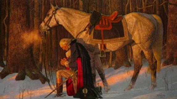 George Washington praying at Valley Forge