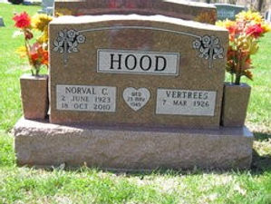 Norval Hood Tombstone Image