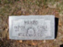 Oliver Wilkins Tombstone Image
