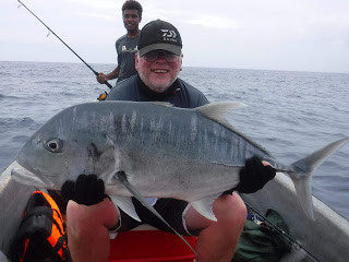 Bob Daley with Giant Trevally