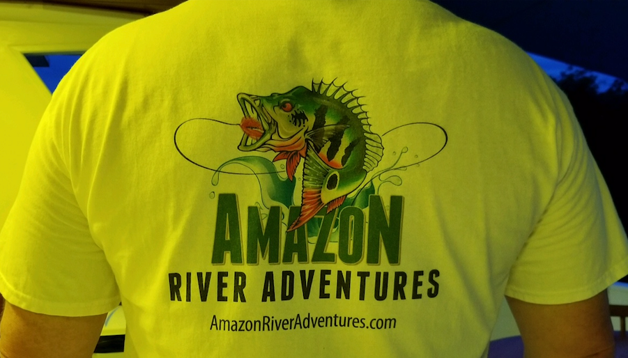 Amazon River Adventures Logo on Tee Shirt