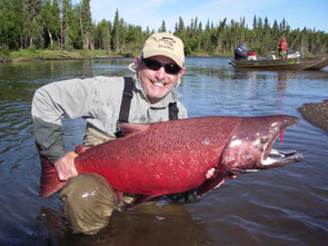 60 61LB Chinook Salmon AniakRiver 7 20 1