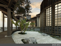 Японский дворик общий вид