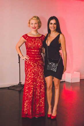"""Allyson Briggs and Gabriela Dias atThe Gabriela Dias Foundation """" Hope for Change"""" Poker Tournament 2018."""