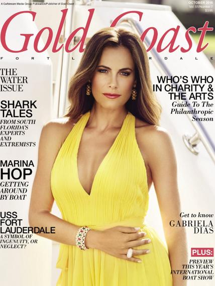Gabriela Dias cover of Gold Coast Magazine.