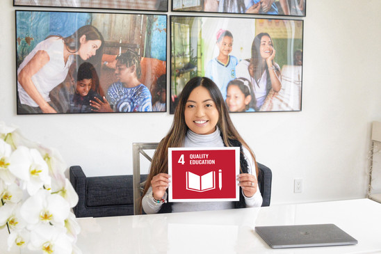 The Gabriela Dias Foundation joined The Global Goals movement to work towards a better world by 2030. Our main goals is ensure inclusive and equitable quality education and promote lifelong learning opportunities for all. Join the movement!