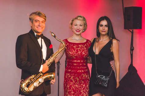 """The band Fleur Seule and Gabriela Dias The Gabriela Dias Foundation """" Hope for Change"""" Poker Tournament 2018."""
