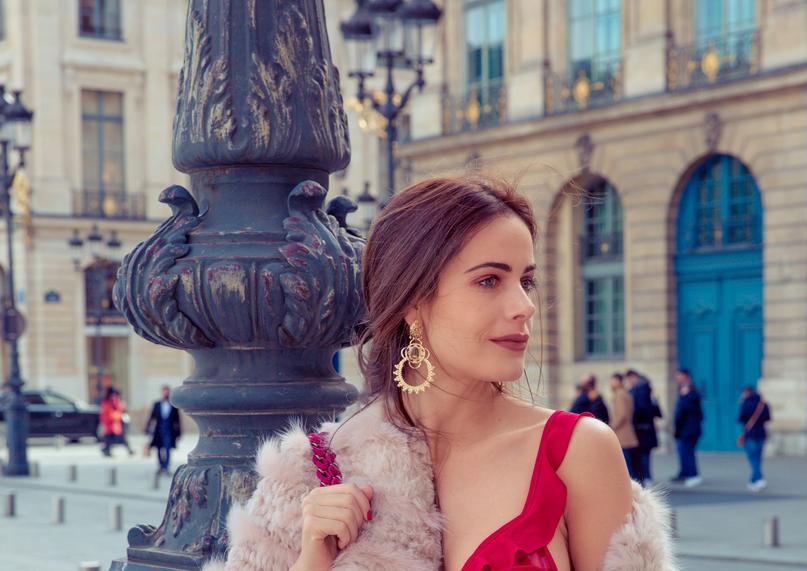 Gabriela Dias attends Paris Fashion Week