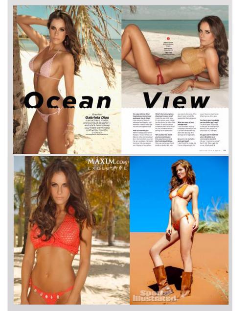 Gabriela Dias and The Gabrieal Dias Collection featured in Maxim.