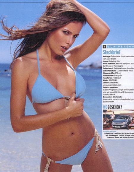 Gabriela Dias featured in Maxim Germany.