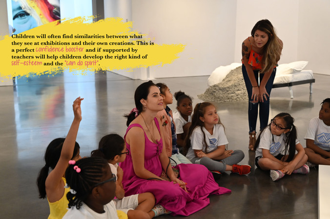 Brant Foundation Field Trip  Expanding Imagination and adding depth to understanding, and opening new worlds of interest with the Boys & Girls Club of Stamford.