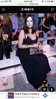 Gabriela Dias attending New York Fashion Week.