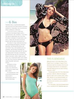 Gabriela Dias Collection featured in Swim Journal.