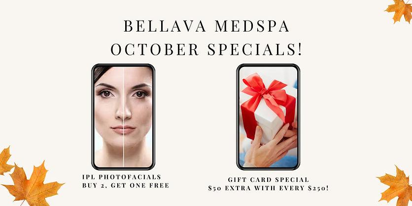 Bellava MedSpa October Specials!