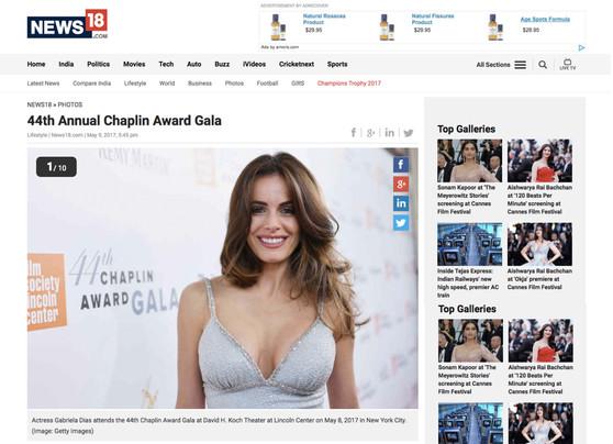 Gabriela Dias attending the 44th Annual Chapling Award Gala..