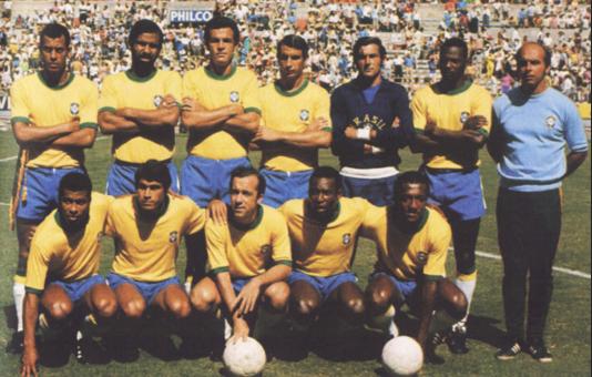 A grandiosa seleção brasileira da Copa de 70. Crédito: Reprodução/CBF