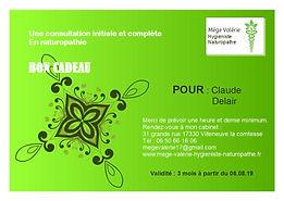 carte cadeau consultation naturopathique