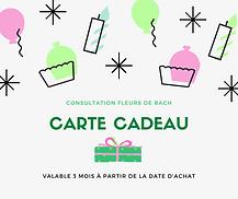 Bon cadeau fleurs de Bach