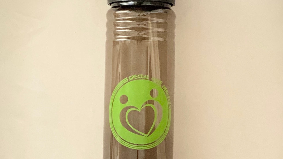 Water Bottle with Flip Straw