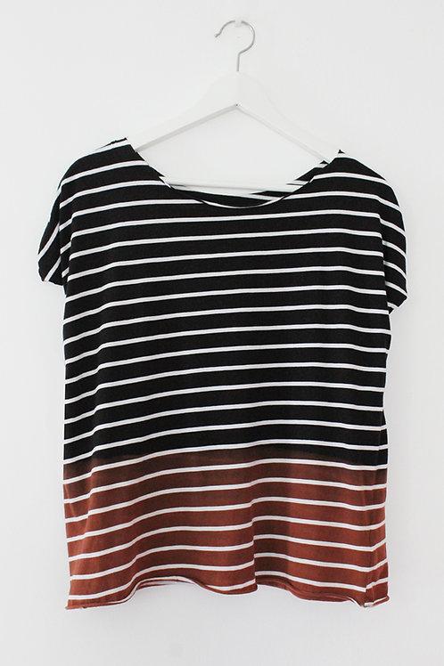 Hand-dyed Black & White shirt
