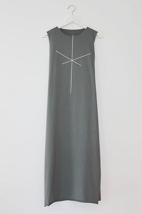 Stripe Olive maxi dress