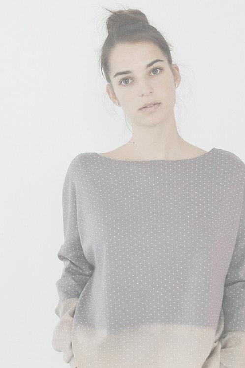 Grey Purplish double face sweatshirt