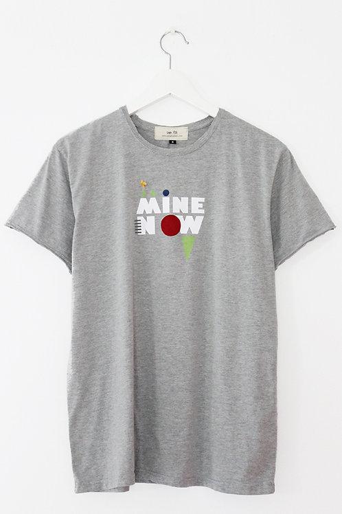 "Unisex ""MINE NOW"" grey T-shirt"