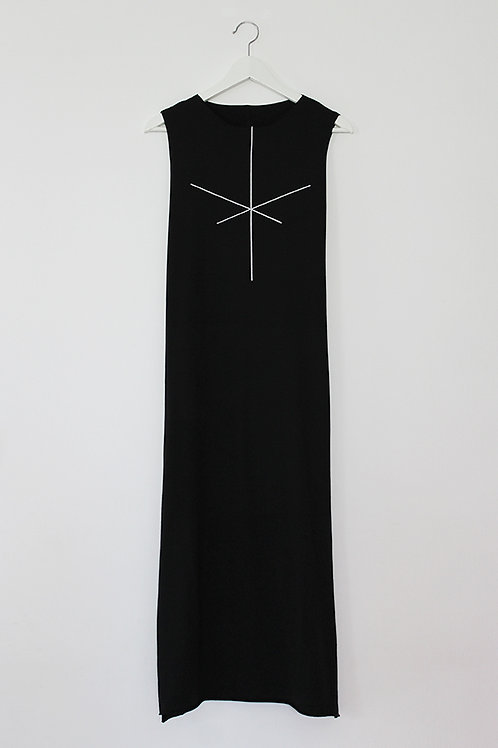 Stripe Black maxi dress
