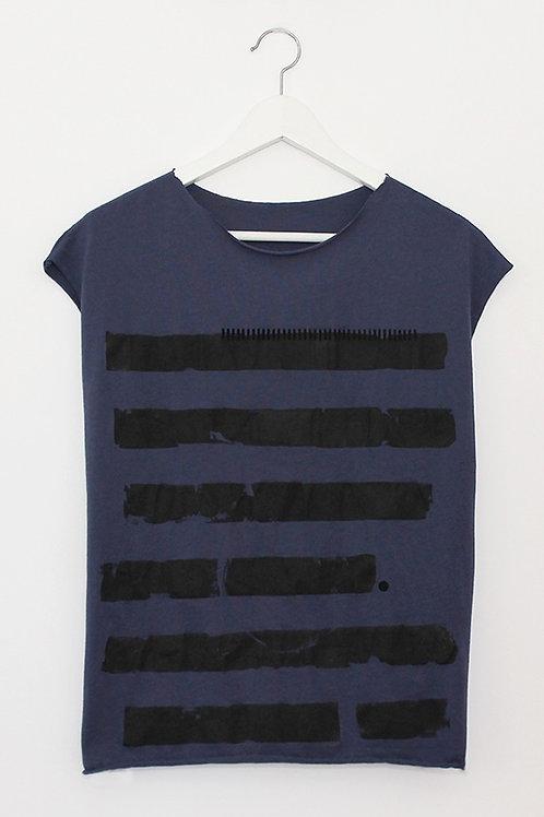 Blue summer shirt with Black stripes