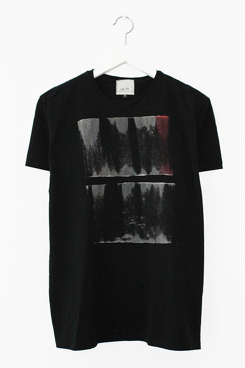 Abstract printed Black T-shirt
