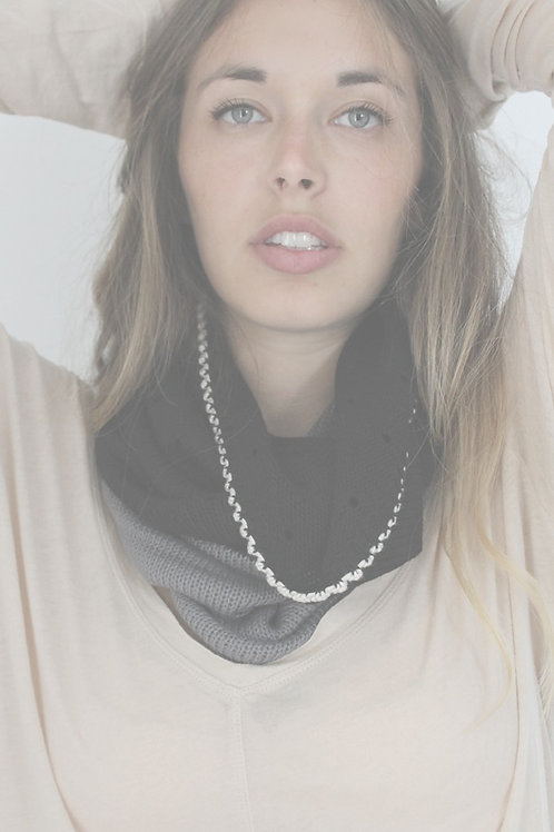 Grey & Black loop Bamboo scarf