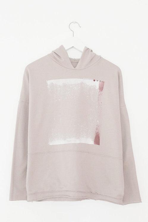 Powder pink hoodie sweatshirt
