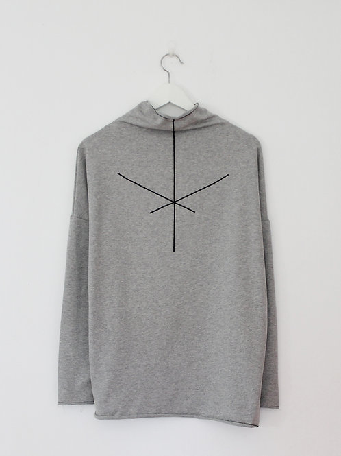 Heather Grey turtle neck sweatshirt